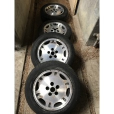 "Jaguar - 4 'Dimple' Wheels & Tyres 16"" 225/55 ZR6"