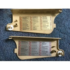 Jaguar Daimler XJ40 XJ6 - Fuse Box Covers - Circuits 1&2 DBC11804 & DBC11805