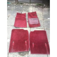 Jaguar XJ40 XJ6 Set of 4 Carpet Mats - Red