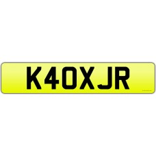 Cherished Registration K40 XJR - Jaguar XJR